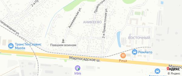 1-ая Привосточная улица на карте Чебоксар с номерами домов