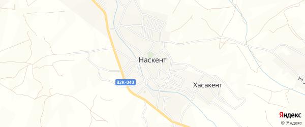 Карта села Наскента в Дагестане с улицами и номерами домов