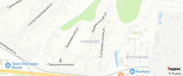 Привосточная улица на карте Чебоксар с номерами домов