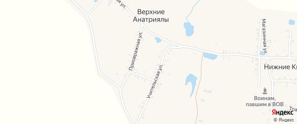 Приовражная улица на карте деревни Верхние Анатриялы с номерами домов