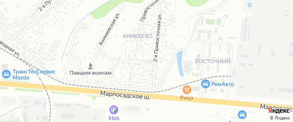 2-я Привосточная улица на карте Чебоксар с номерами домов