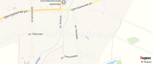 Улица Чапаева на карте села Тарханы с номерами домов