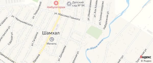 Улица Кутузова на карте поселка Шамхала с номерами домов