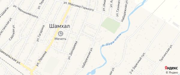 Улица Газимагомедова на карте поселка Шамхала с номерами домов