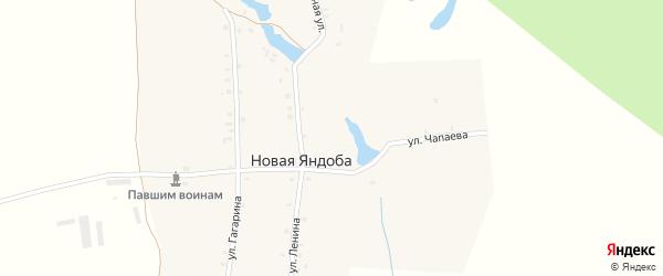 Лесная улица на карте деревни Новой Яндобы с номерами домов