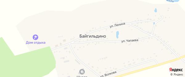 Улица Чапаева на карте деревни Байгильдино с номерами домов