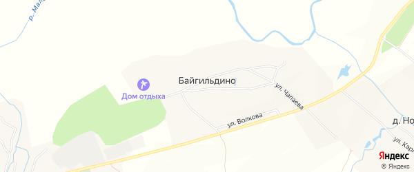 Карта деревни Байгильдино в Чувашии с улицами и номерами домов