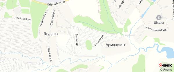 СТ Хастар на карте Синьяльского сельского поселения с номерами домов