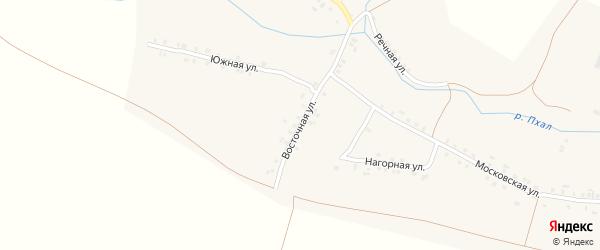 Восточная улица на карте деревни Айбечи с номерами домов
