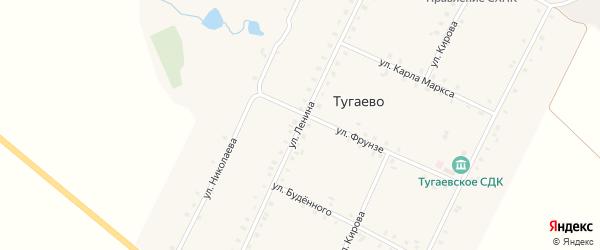 Улица Ленина на карте села Тугаево с номерами домов