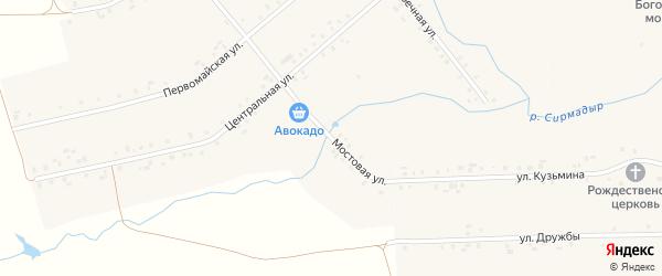 Мостовая улица на карте деревни Шурут-Нурусово с номерами домов