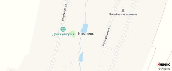 Улица Чембек на карте деревни Клычево с номерами домов