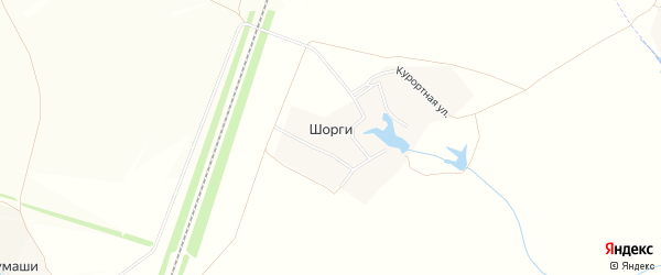 Карта деревни Шоргов в Чувашии с улицами и номерами домов