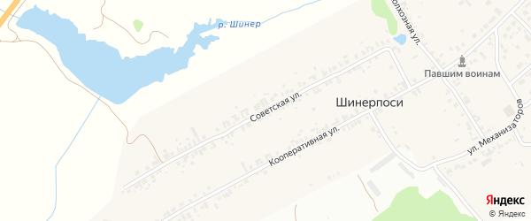 Советская улица на карте деревни Шинерпосей с номерами домов