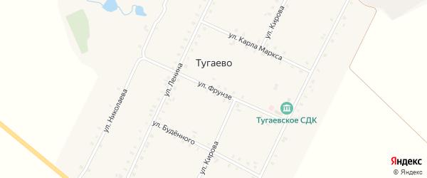 Улица Фрунзе на карте села Тугаево с номерами домов