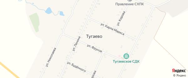 Улица Николаева на карте села Тугаево с номерами домов