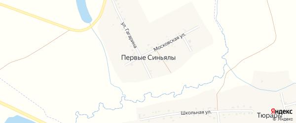 Московская улица на карте деревни Первые Синьялы с номерами домов