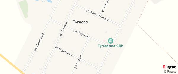 Улица Кирова на карте села Тугаево с номерами домов