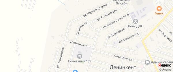 Атлы-Боюнская улица на карте поселка Ленинкента с номерами домов
