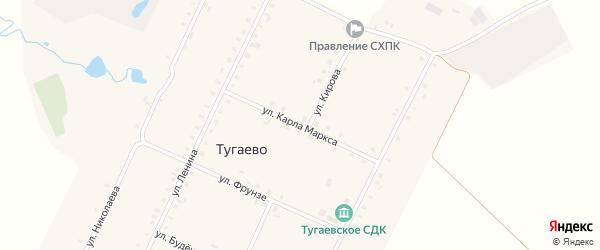 Улица К.Маркса на карте села Тугаево с номерами домов