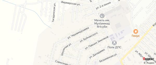 Улица Черевмурзаева на карте поселка Ленинкента с номерами домов