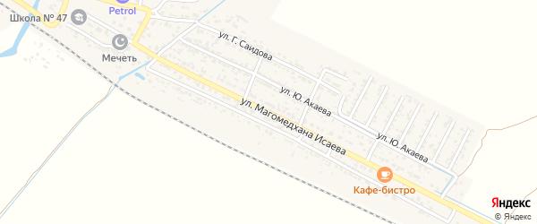 Улица Исаева на карте поселка Шамхала с номерами домов