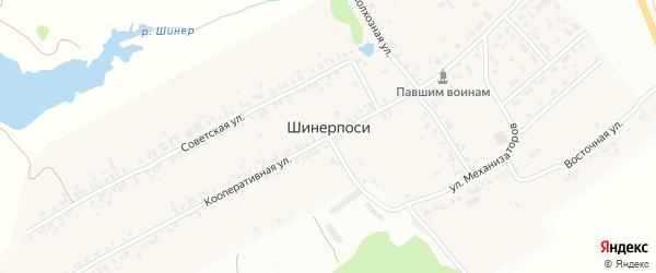 Улица Механизаторов на карте деревни Шинерпосей с номерами домов