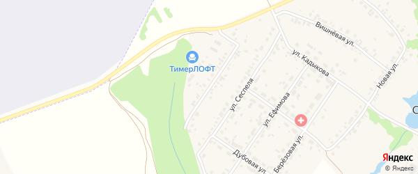 Водопроводная улица на карте села Синьялы с номерами домов