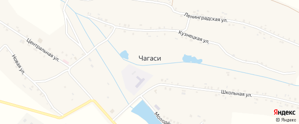 Улица Уткина на карте деревни Чагаси с номерами домов