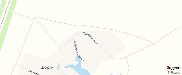 Курортная улица на карте деревни Шоргов с номерами домов