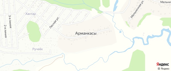 Речная улица на карте деревни Арманкасы с номерами домов