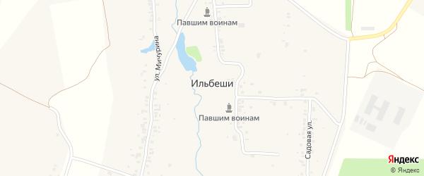 Школьная улица на карте деревни Ильбеши с номерами домов