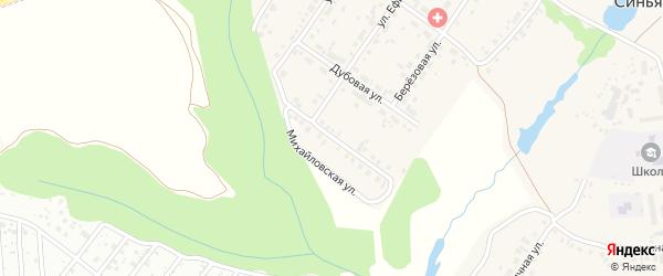 Михайловская улица на карте села Синьялы с номерами домов