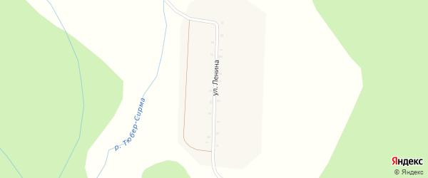 Улица Ленина на карте поселка Хурамы-Твар с номерами домов
