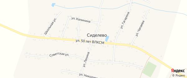Улица Ленина на карте деревни Сиделево с номерами домов