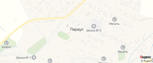 Улица Акмурзаева на карте села Параула с номерами домов