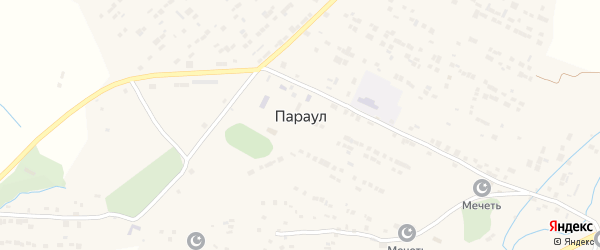 Улица Ю.Акаева на карте села Параула с номерами домов