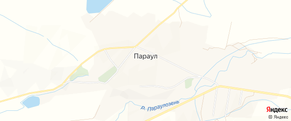 Карта села Параула в Дагестане с улицами и номерами домов
