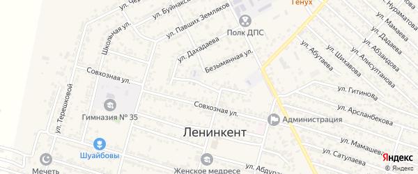 Виноградная улица на карте поселка Ленинкента с номерами домов