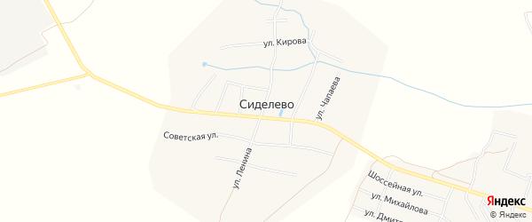 Карта деревни Сиделево в Чувашии с улицами и номерами домов
