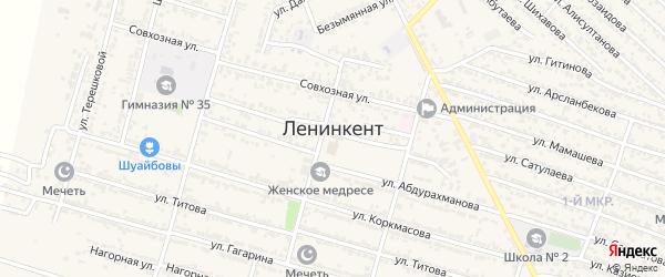 Улица Ф.Абдуллаева на карте поселка Ленинкента с номерами домов