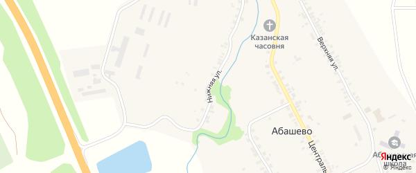 Нижняя улица на карте села Абашево с номерами домов