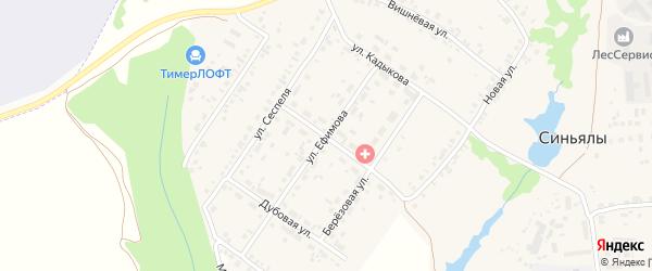 Улица Ефимова на карте села Синьялы с номерами домов