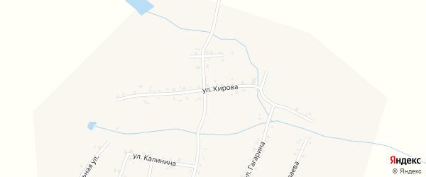Улица Кирова на карте деревни Сиделево с номерами домов