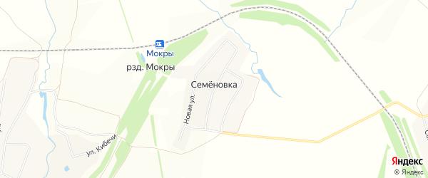 Карта деревни Семеновки в Чувашии с улицами и номерами домов