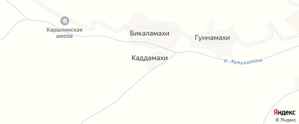 Улица А.Чаканаева на карте хутора Каддамахи с номерами домов