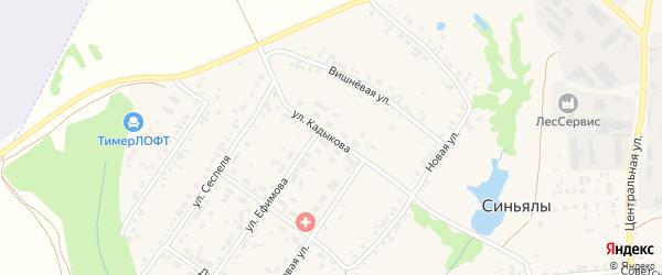 Улица Кадыкова на карте села Синьялы с номерами домов
