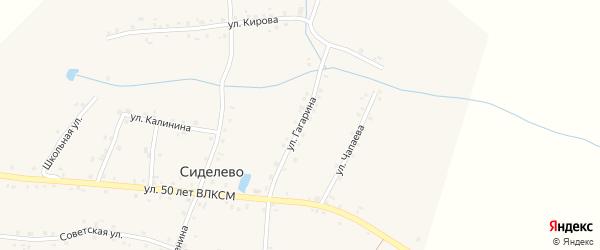 Улица Гагарина на карте деревни Сиделево с номерами домов