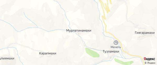 Карта хутора Мурлатинамахи в Дагестане с улицами и номерами домов