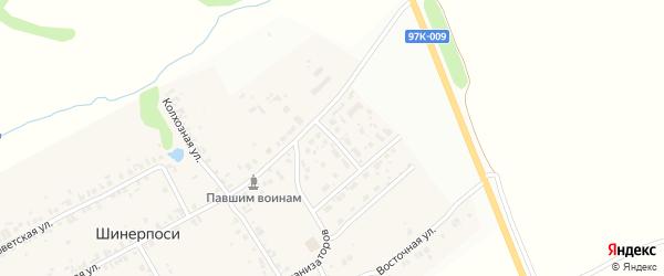 Школьная улица на карте деревни Шинерпосей с номерами домов